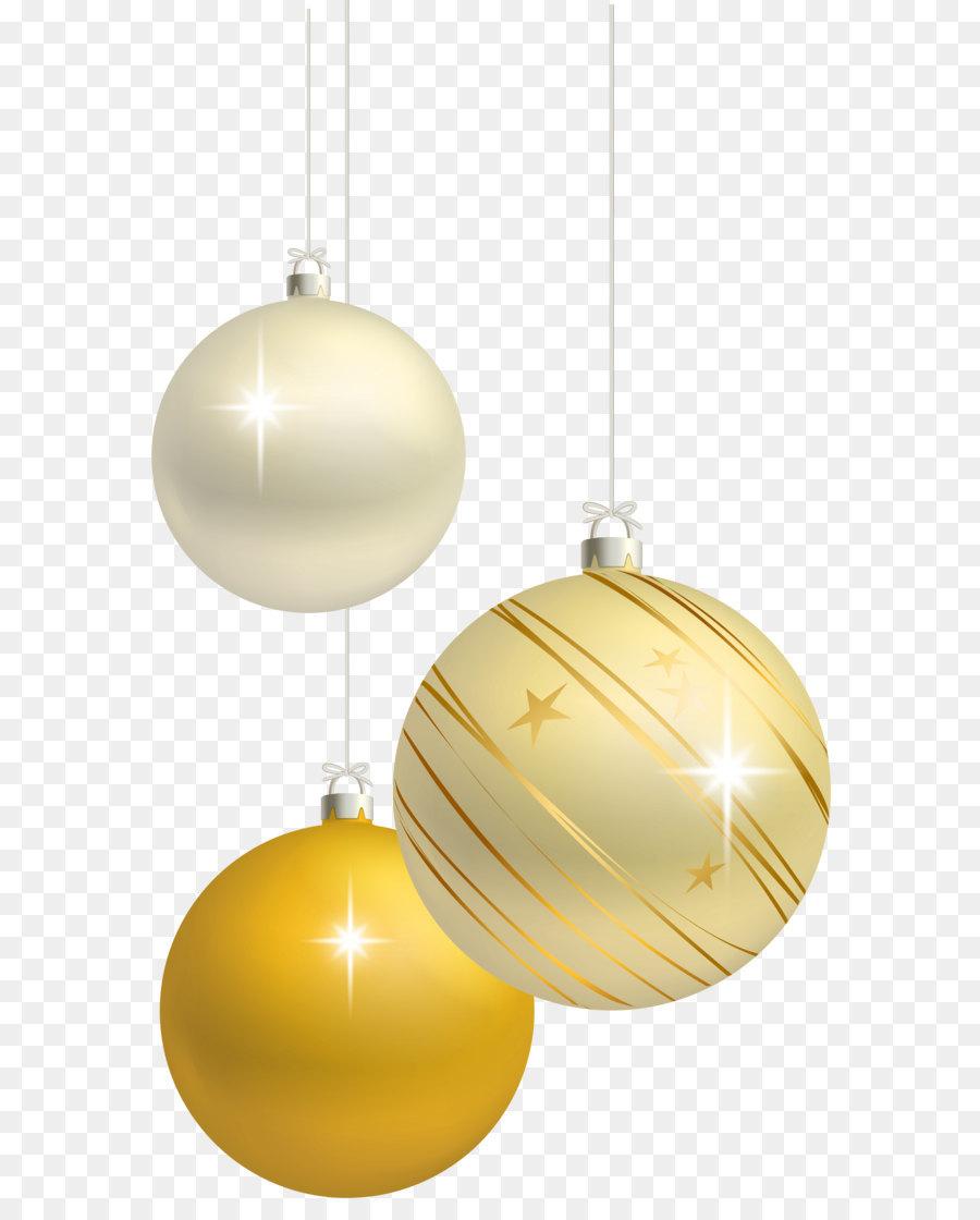 Descarga gratuita de La Navidad, Bola, Amarillo Imágen de Png