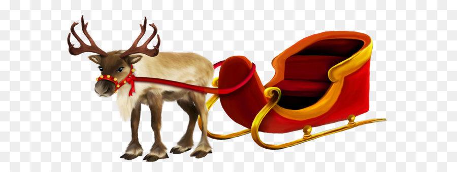 Descarga gratuita de Rudolph, Santa Claus, Los Ciervos Imágen de Png