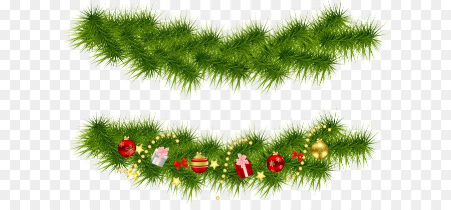 Descarga gratuita de La Navidad, Guirnalda, Pino Imágen de Png