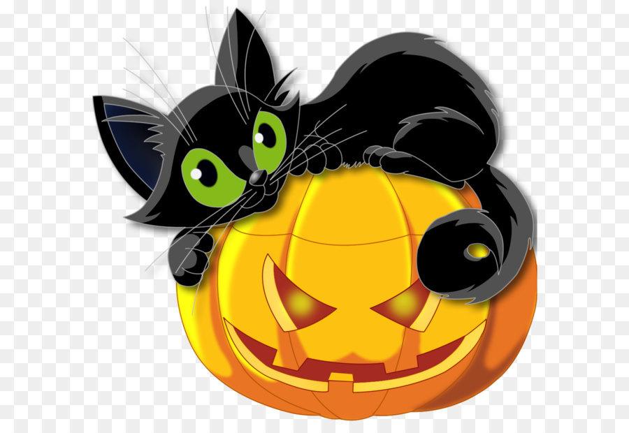 Descarga gratuita de Gato, Gatito, Calabaza imágenes PNG