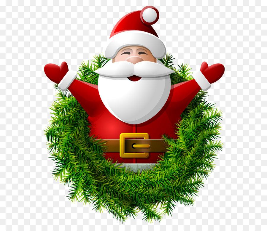 Descarga gratuita de Santa Claus, La Navidad, Kerstkrans Imágen de Png