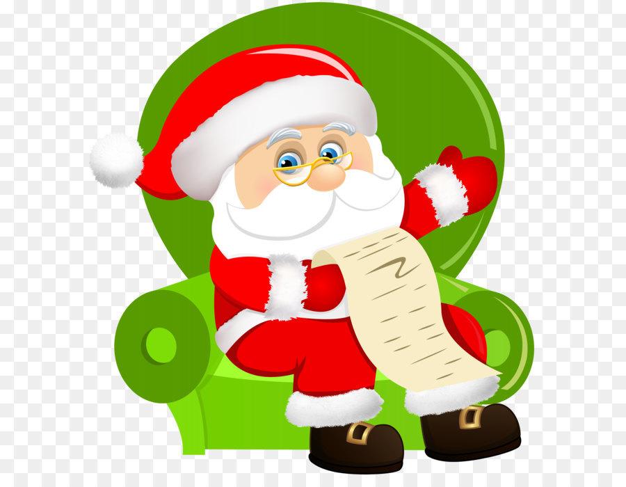 Descarga gratuita de Santa Claus, La Navidad, Sentado Imágen de Png