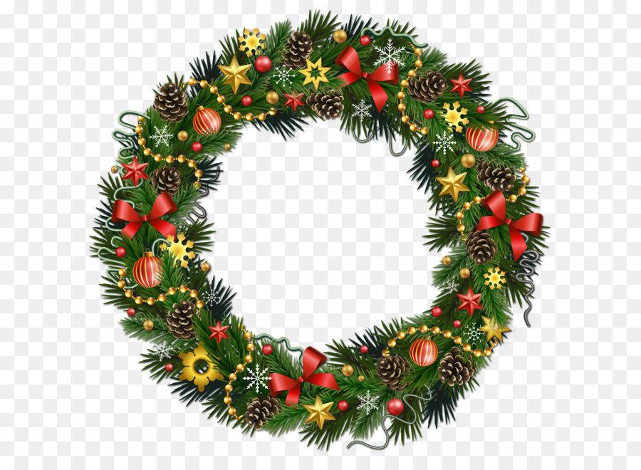 Descarga gratuita de Corona, La Navidad, Guirnalda Imágen de Png