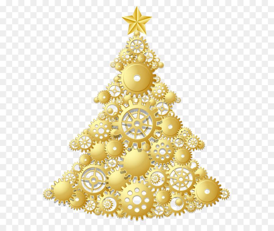 Descarga gratuita de La Navidad, árbol, Oro Imágen de Png