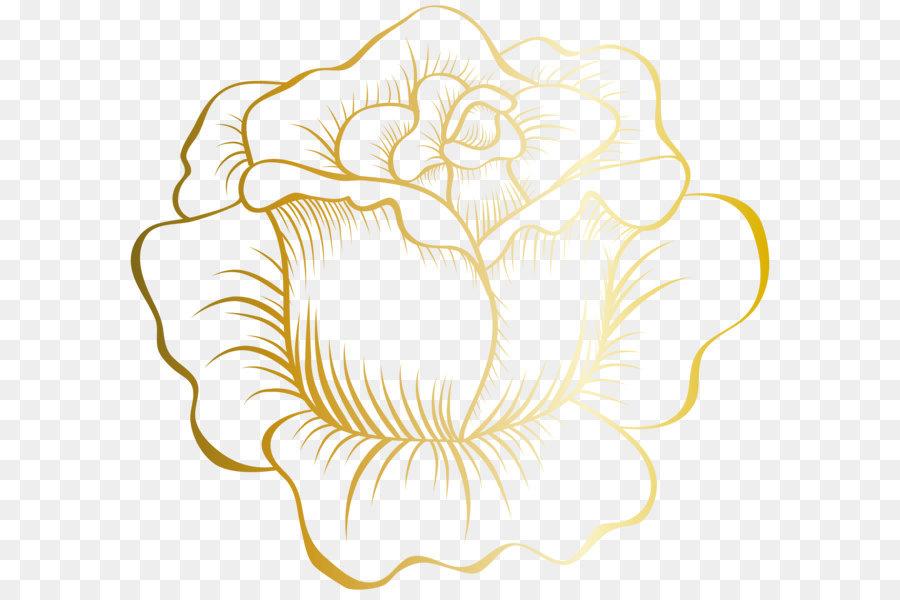 Descarga gratuita de Oro, Flor, Descargar imágenes PNG
