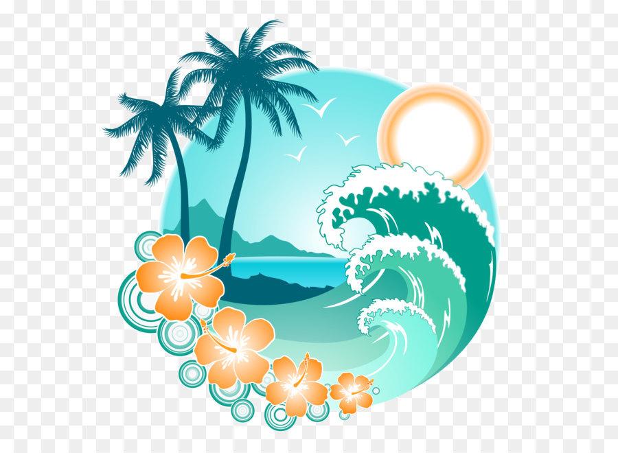 Descarga gratuita de Playa, Ola, Vector De Onda imágenes PNG