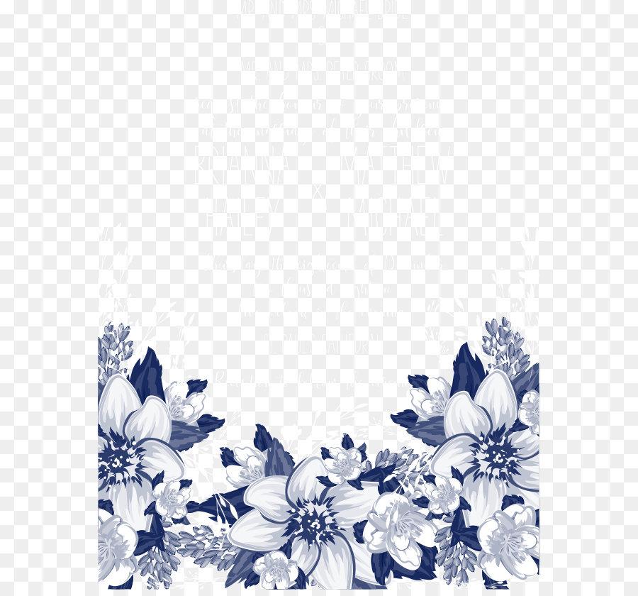 Descarga gratuita de Flor, Azul, Convite Imágen de Png