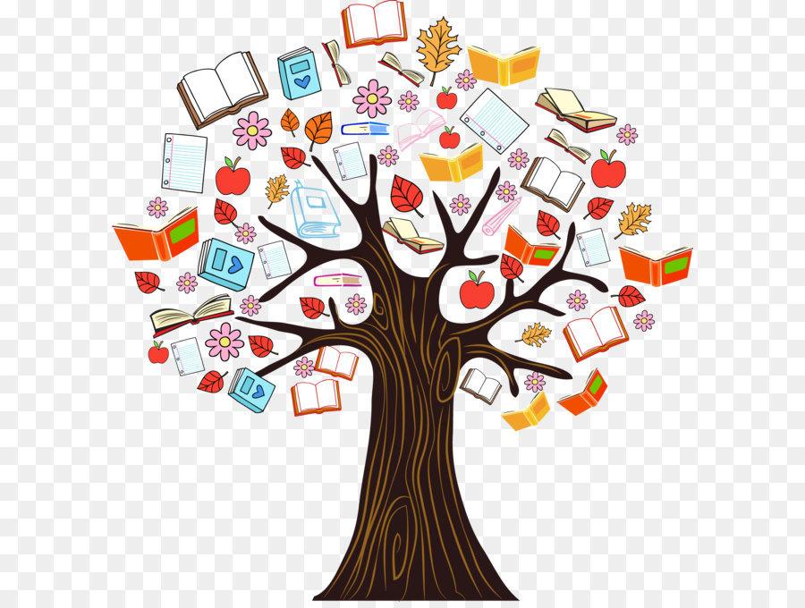 Descarga gratuita de árbol, Eldíadelalápices De Coloresdejar De Fumar, Libro Imágen de Png