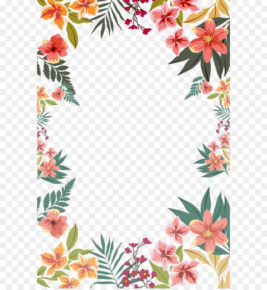 Descarga gratuita de Papel, Flor, Frontera Flores Imágen de Png