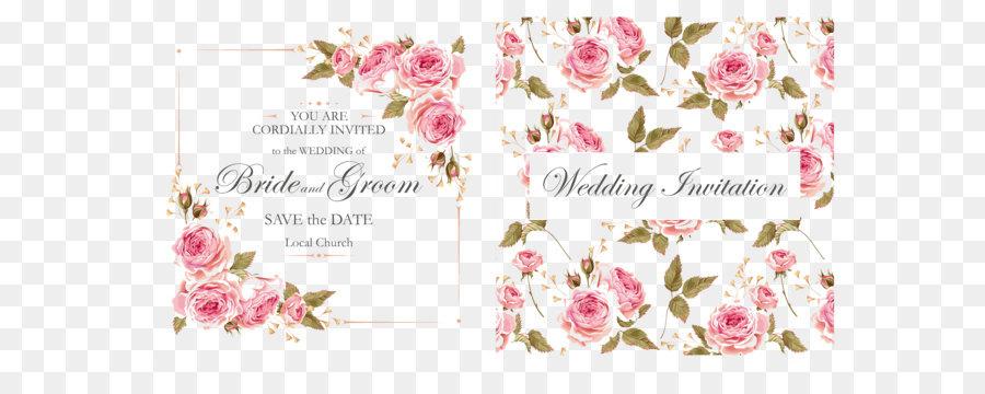 Descarga gratuita de Convite, Rosa, El Matrimonio Imágen de Png