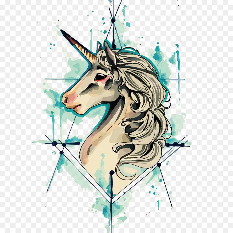 Descarga gratuita de Tatuaje, Unicornio, De La Vieja Escuela Tattoo imágenes PNG