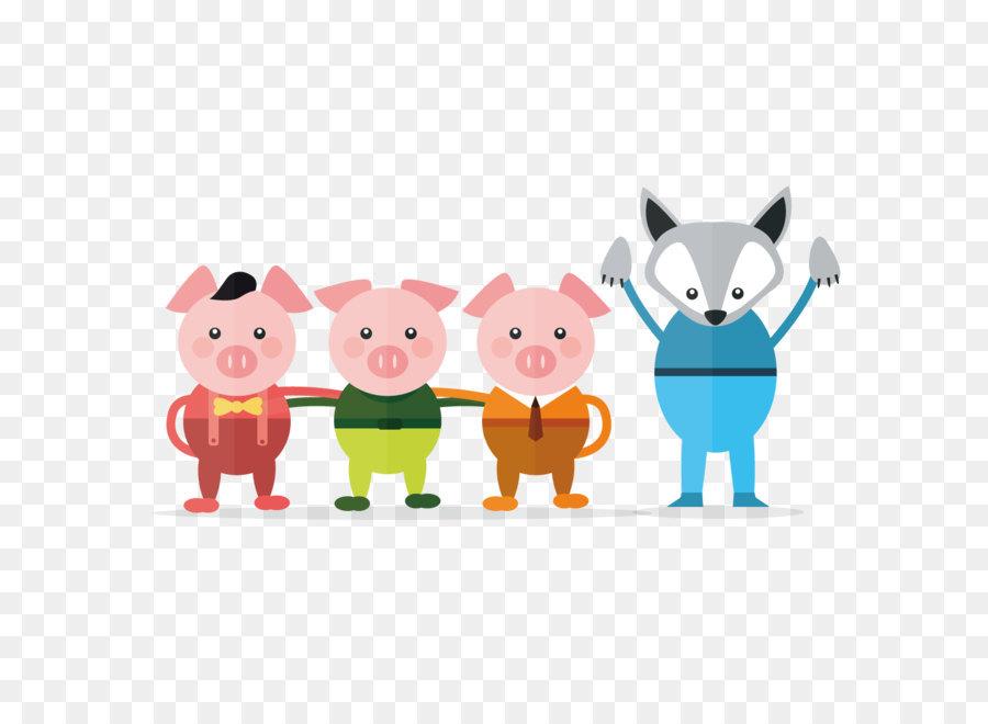 Descarga gratuita de Los Tres Pequeños Cerdos, Vector, De Cuento De Hadas imágenes PNG