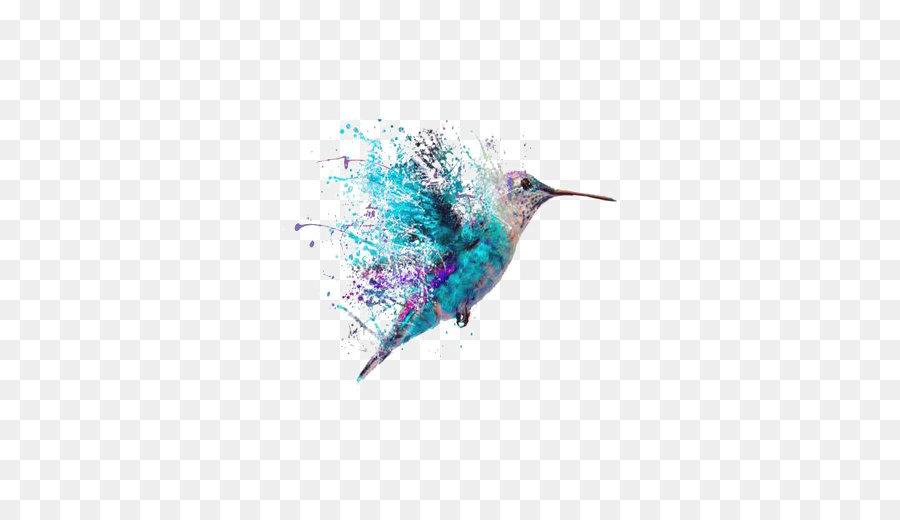 Descarga gratuita de Colibrí, Aves, Pintura imágenes PNG