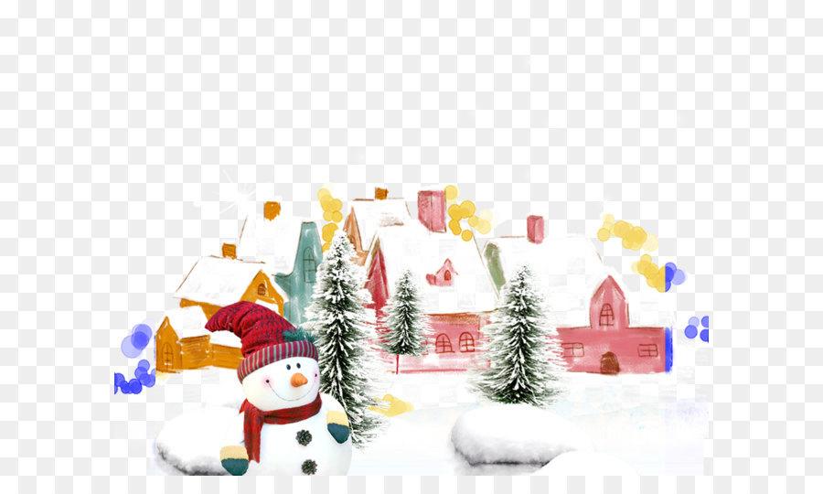 Descarga gratuita de Muñeco De Nieve, La Navidad, Casa Imágen de Png