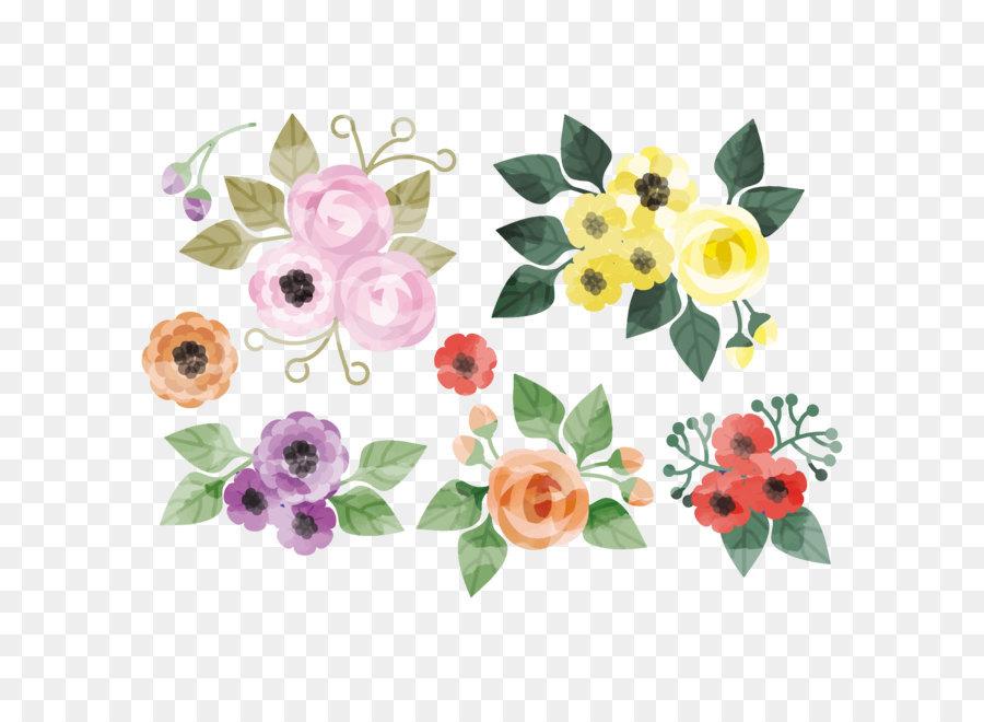 Descarga gratuita de Creativo Acuarela, Flor, Floral Diseño imágenes PNG