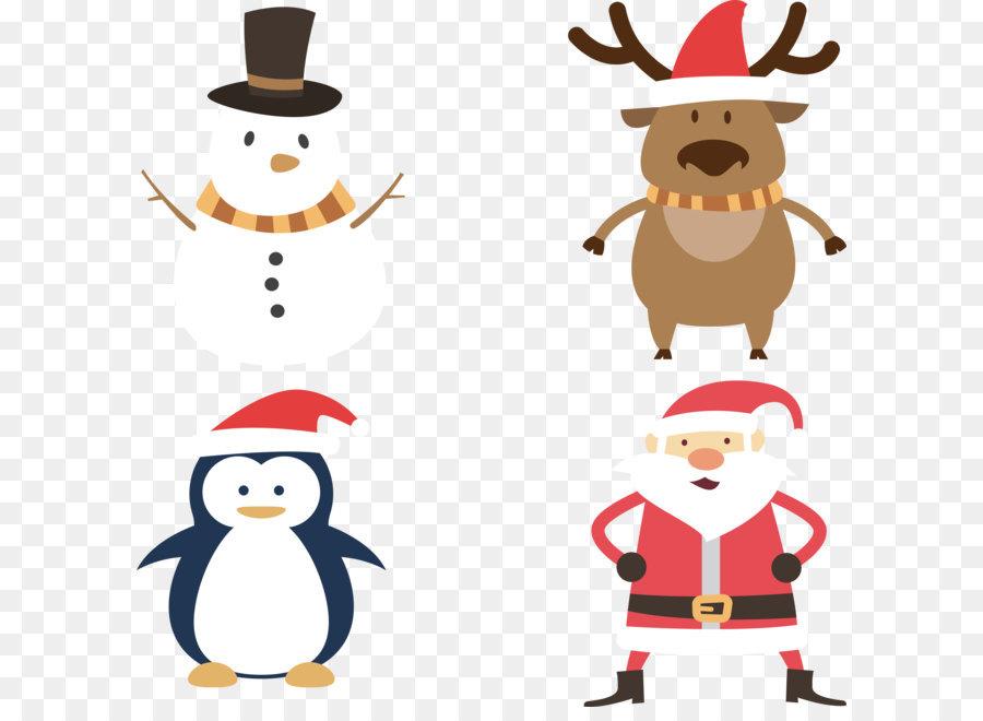 Descarga gratuita de Santa Claus, Pingüino, La Navidad Imágen de Png