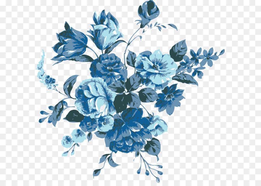 Descarga gratuita de Azul, Flor, Dibujo imágenes PNG