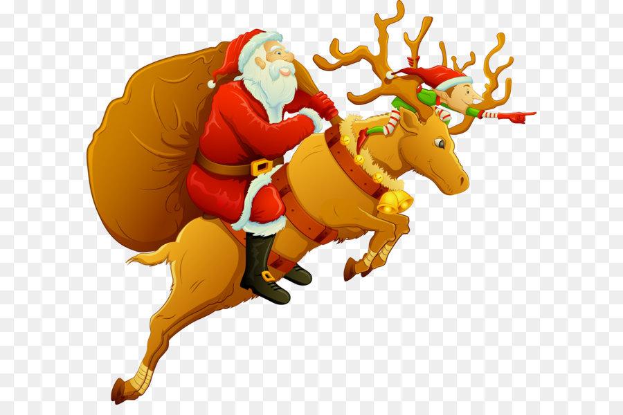 Descarga gratuita de Santa Claus, La Navidad, Trineo Imágen de Png