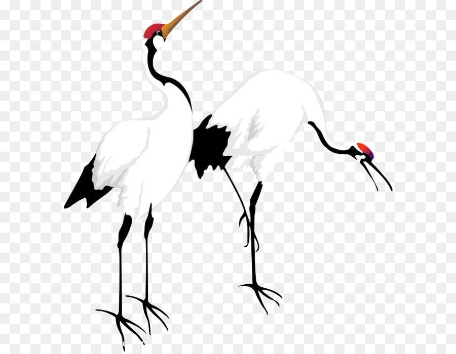 Descarga gratuita de Grúa, Aves, Pintura Imágen de Png
