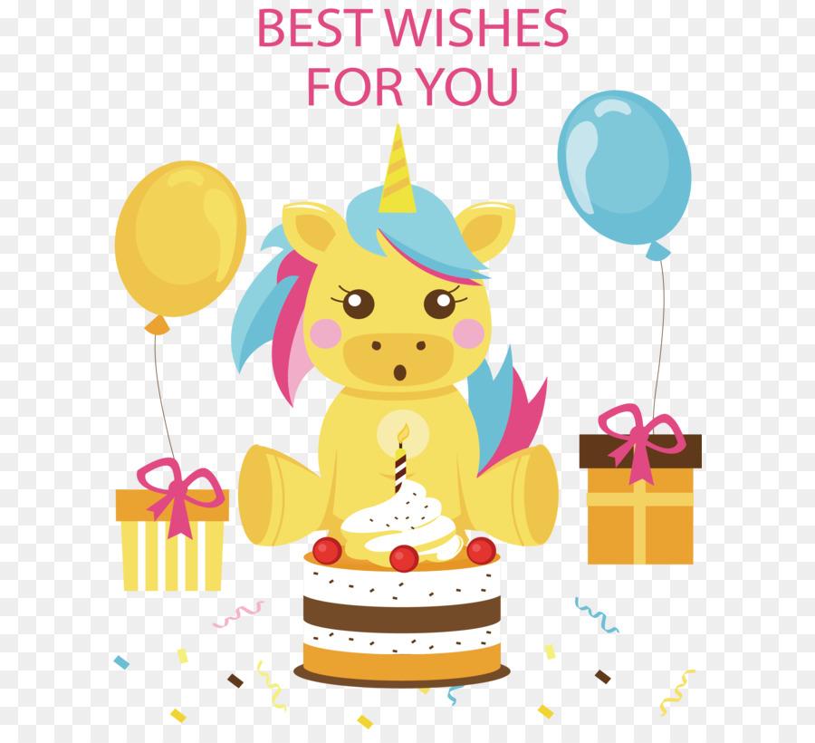 Descarga gratuita de Cumpleaños, Unicornio, Globo Imágen de Png