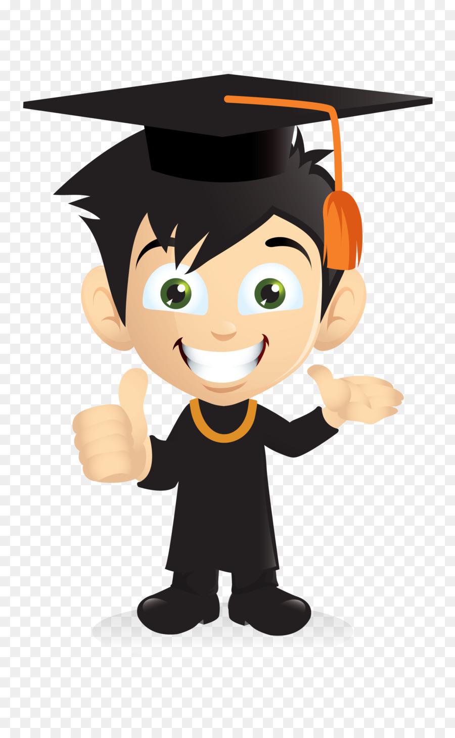 Descarga gratuita de De Dibujos Animados, Ceremonia De Graduación, Chico Imágen de Png