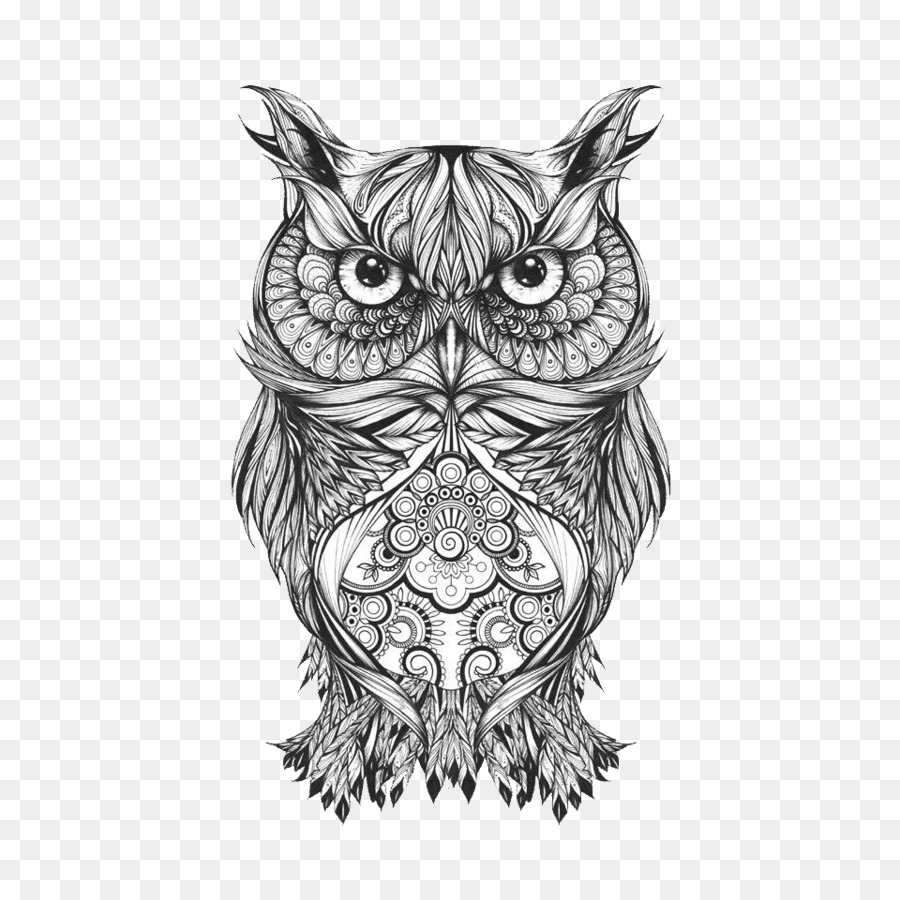 Descarga gratuita de Búho, Tatuaje, Dibujo Imágen de Png