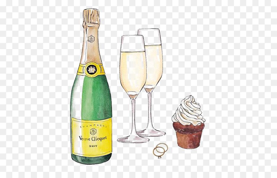 Descarga gratuita de Vino, Copa De Champán, Botella Imágen de Png