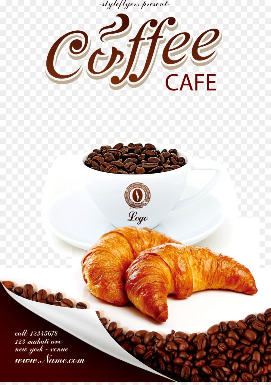 Descarga gratuita de Café, Panadería, Flyer imágenes PNG