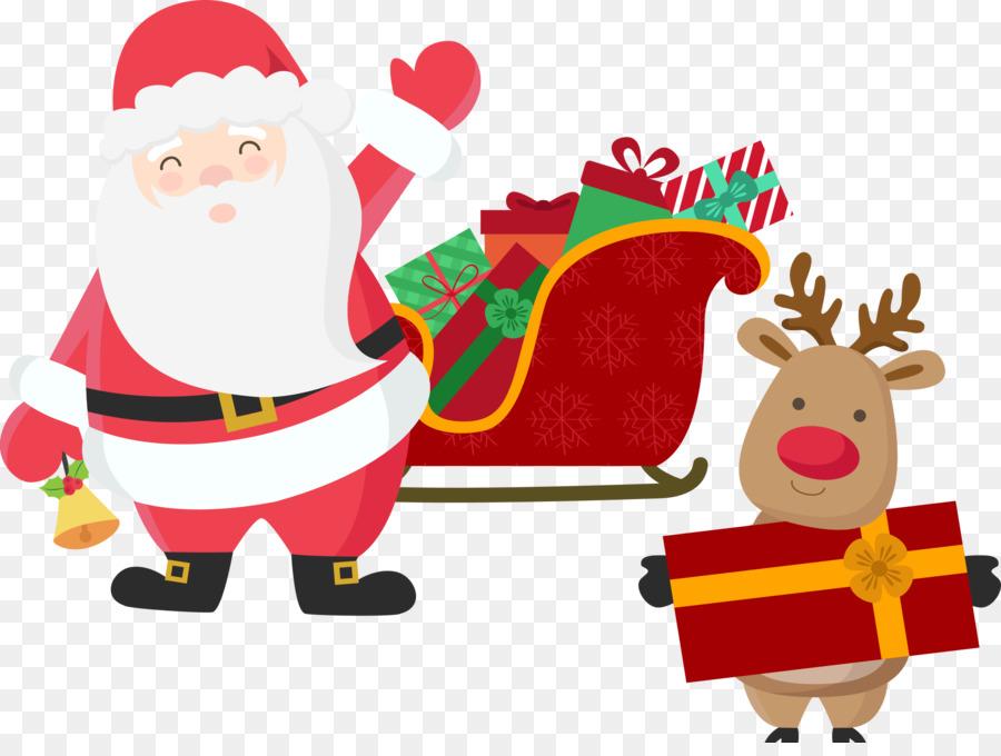 Descarga gratuita de Rudolph, Santa Claus, La Navidad Imágen de Png