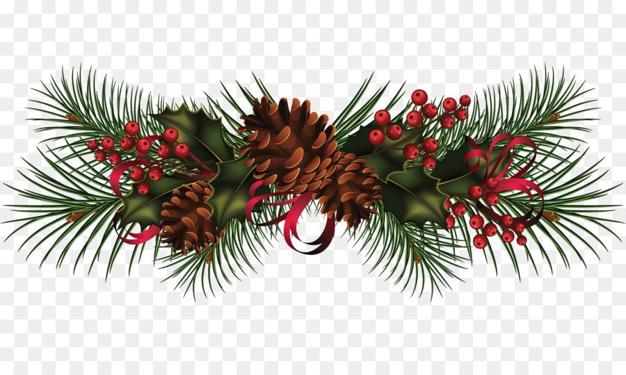 Descarga gratuita de La Navidad, Garland, Corona Imágen de Png