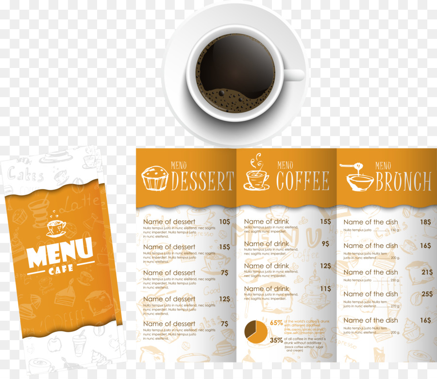 Descarga gratuita de Café, Menú, Folleto imágenes PNG