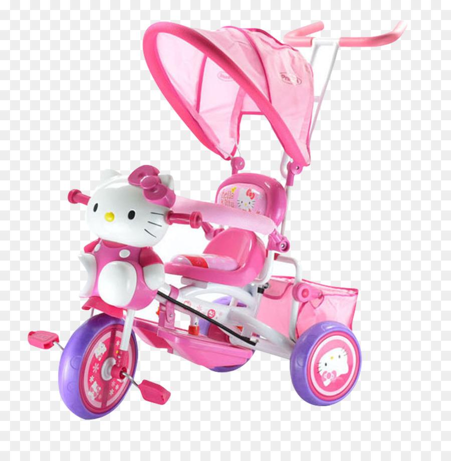 Descarga gratuita de Hello Kitty, Coche, Bicicleta Imágen de Png