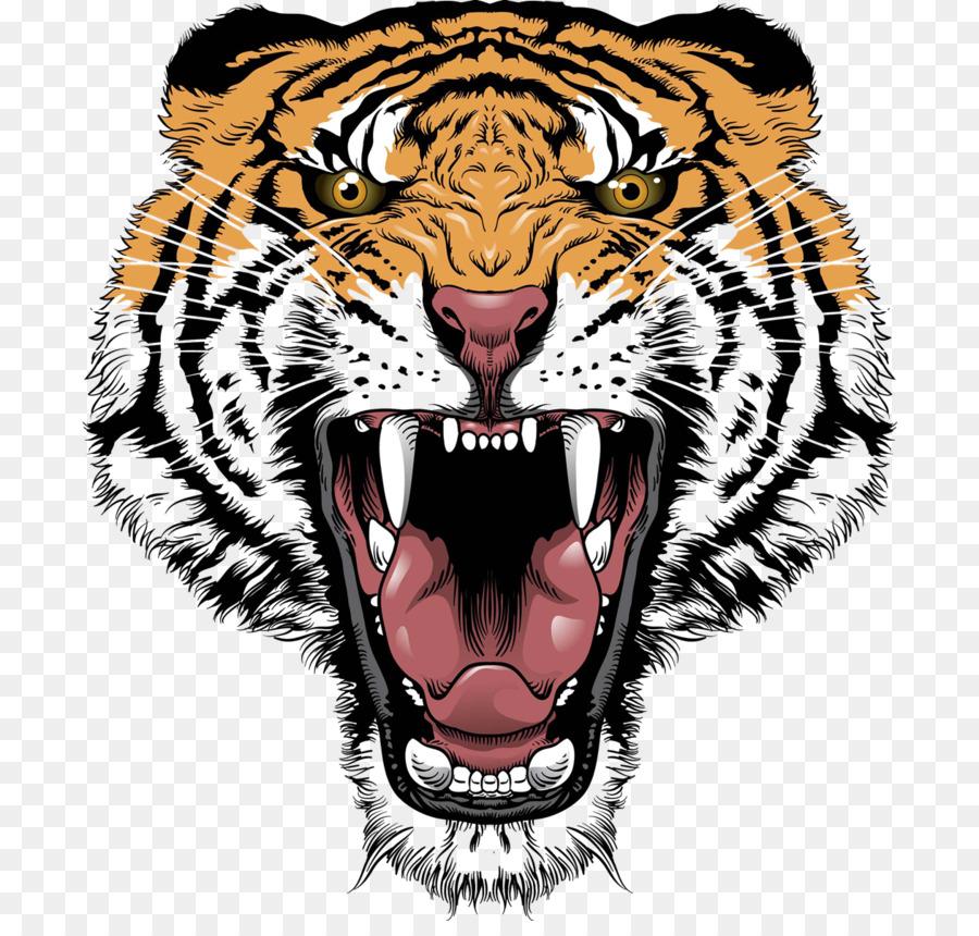 Descarga gratuita de Tigre, León, Rugido Imágen de Png
