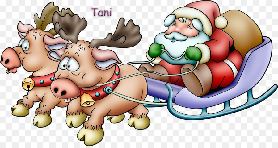 Descarga gratuita de Santa Claus, Trineo, Descargar Imágen de Png
