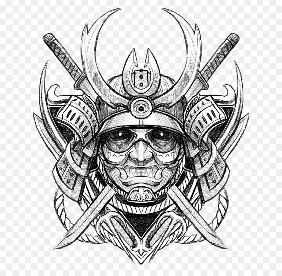 Descarga gratuita de Dibujo, Samurai, Tatuaje Imágen de Png