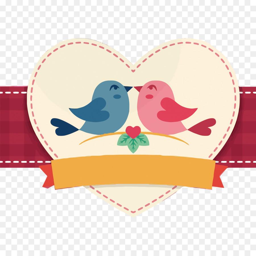 Descarga gratuita de Pájaro, El Día De San Valentín, Beso imágenes PNG