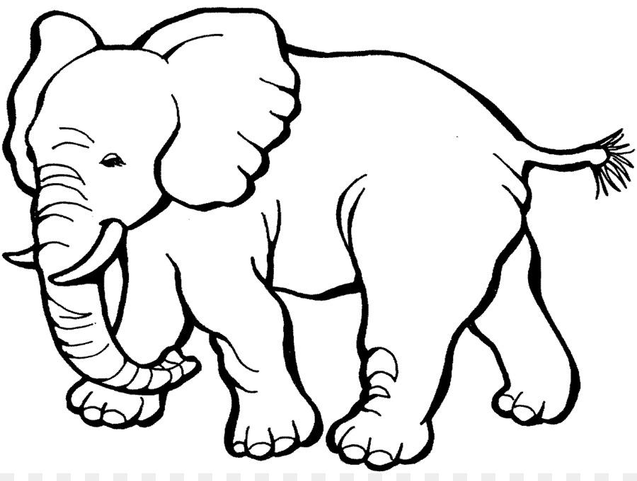 Libro Para Colorear Elefante Niño Imagen Png Imagen Transparente