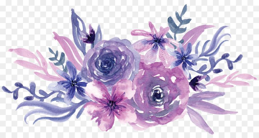 Descarga gratuita de Pintura A La Acuarela, Flor, Púrpura imágenes PNG