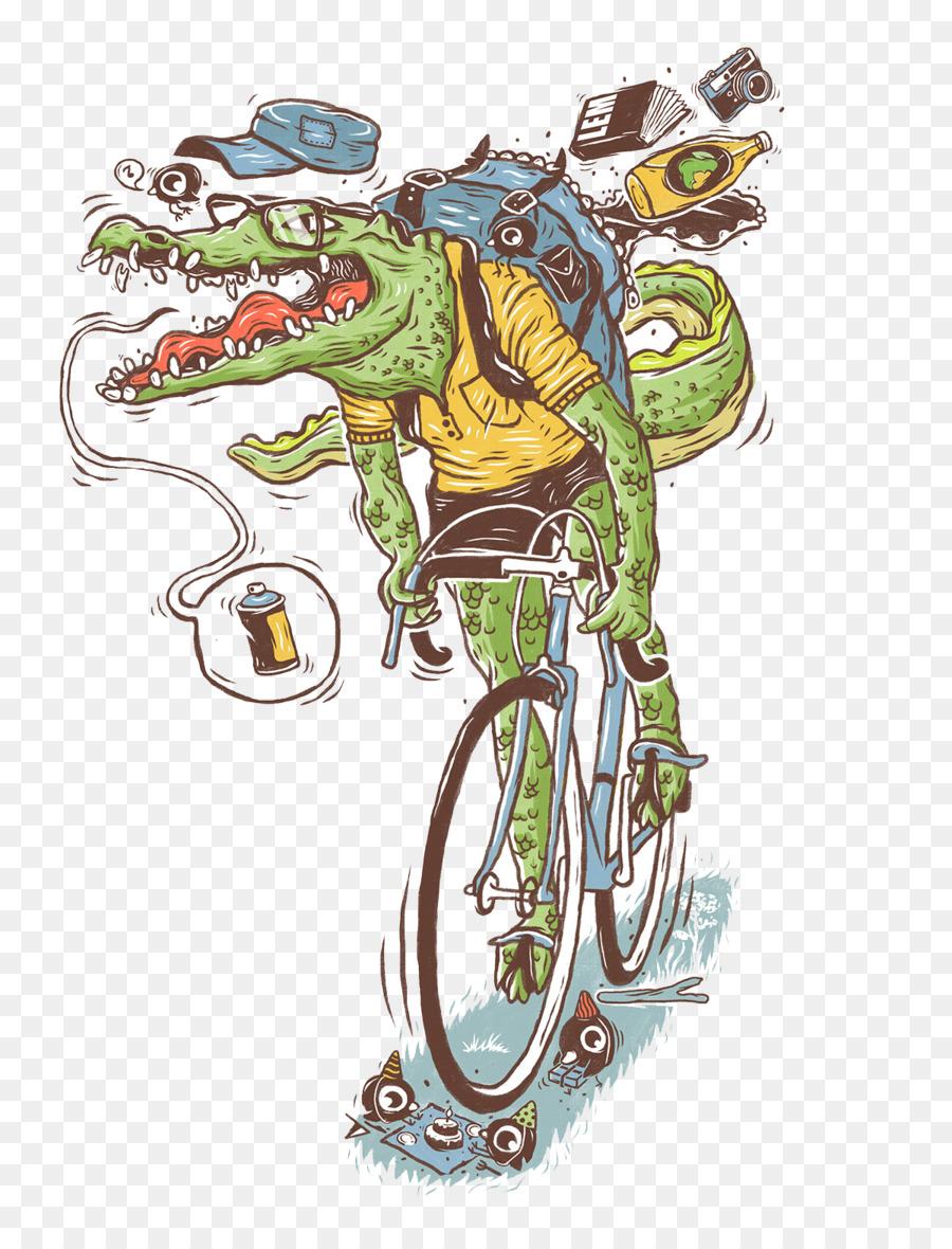 Resultado de imagen de cocodrilo bicicleta