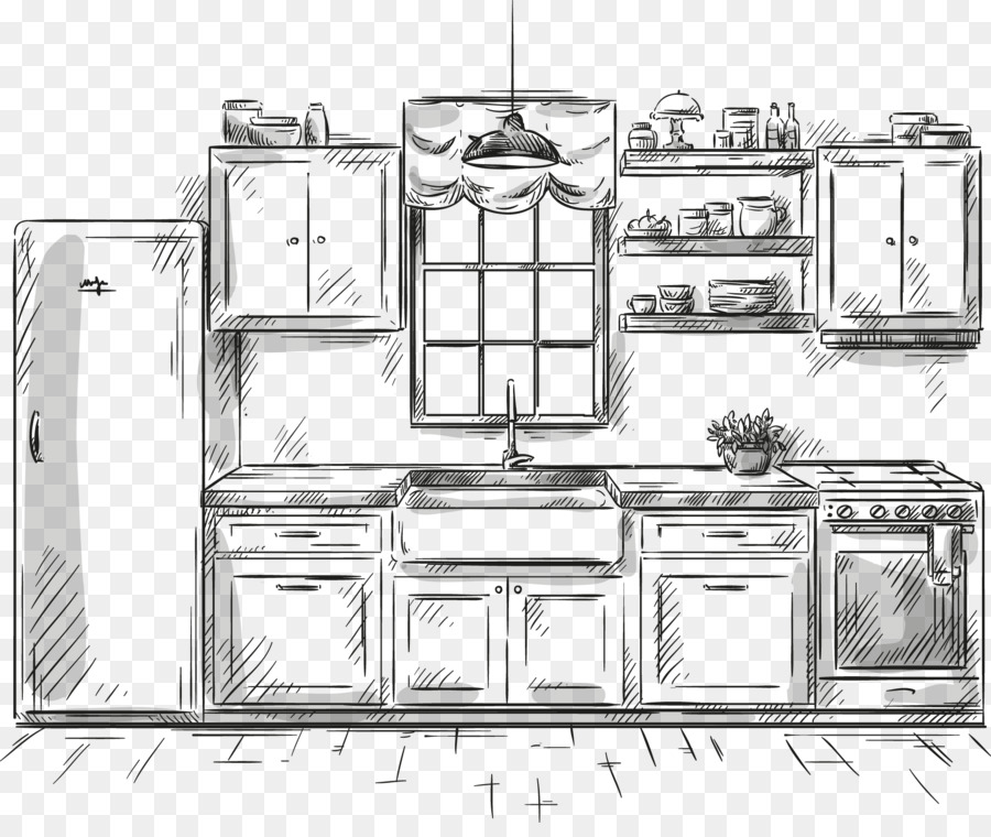 Dibujo, Cocina, Muebles imagen png - imagen transparente descarga ...