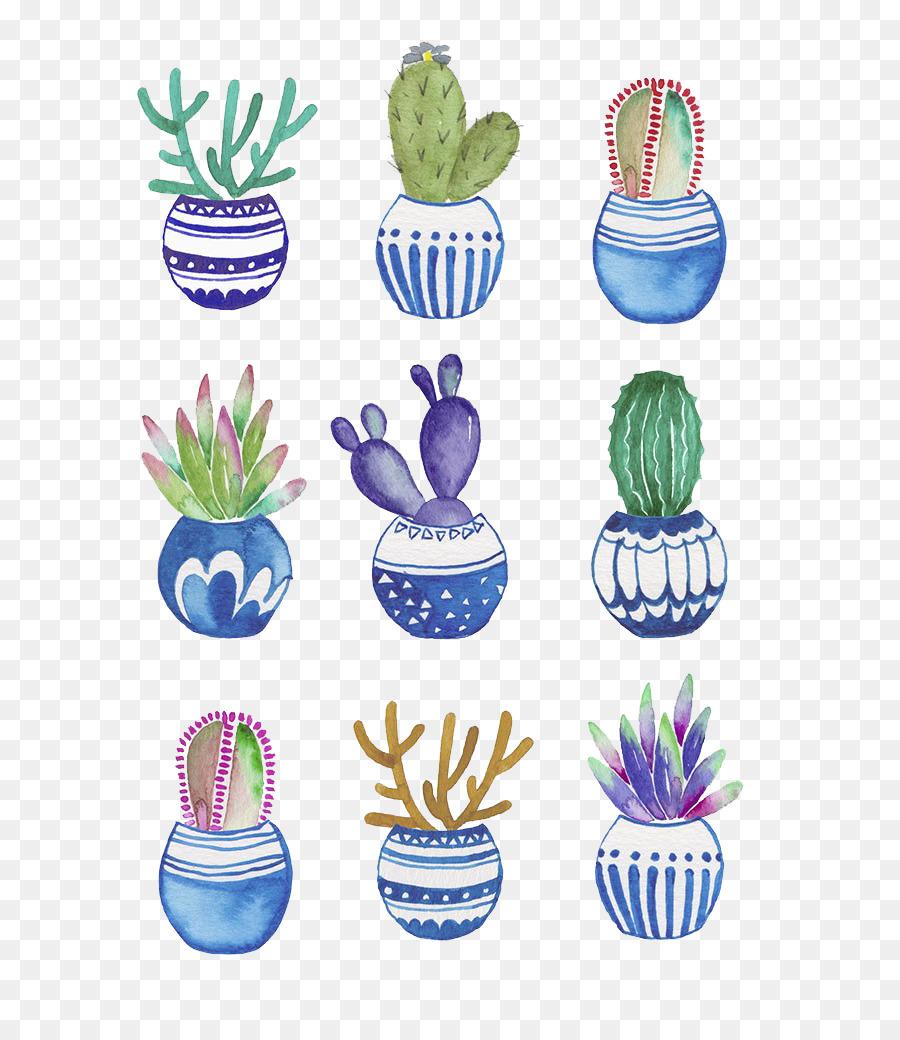 Descarga gratuita de Maceta, Cactaceae, Pintura A La Acuarela Imágen de Png