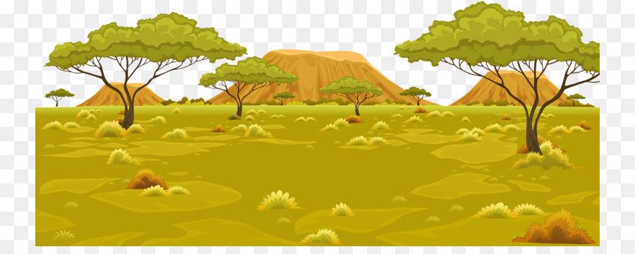 áfrica Paisaje De Dibujos Animados Imagen Png Imagen Transparente Descarga Gratuita