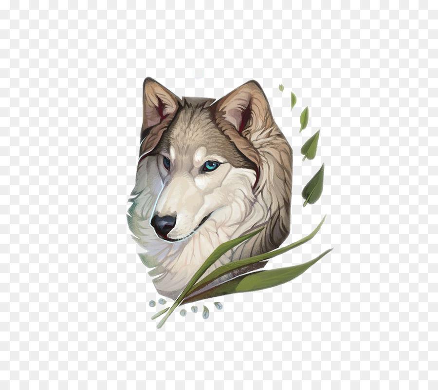 Husky Siberiano De Color Gris Lobo De Saarloos Lobo Dibujo De