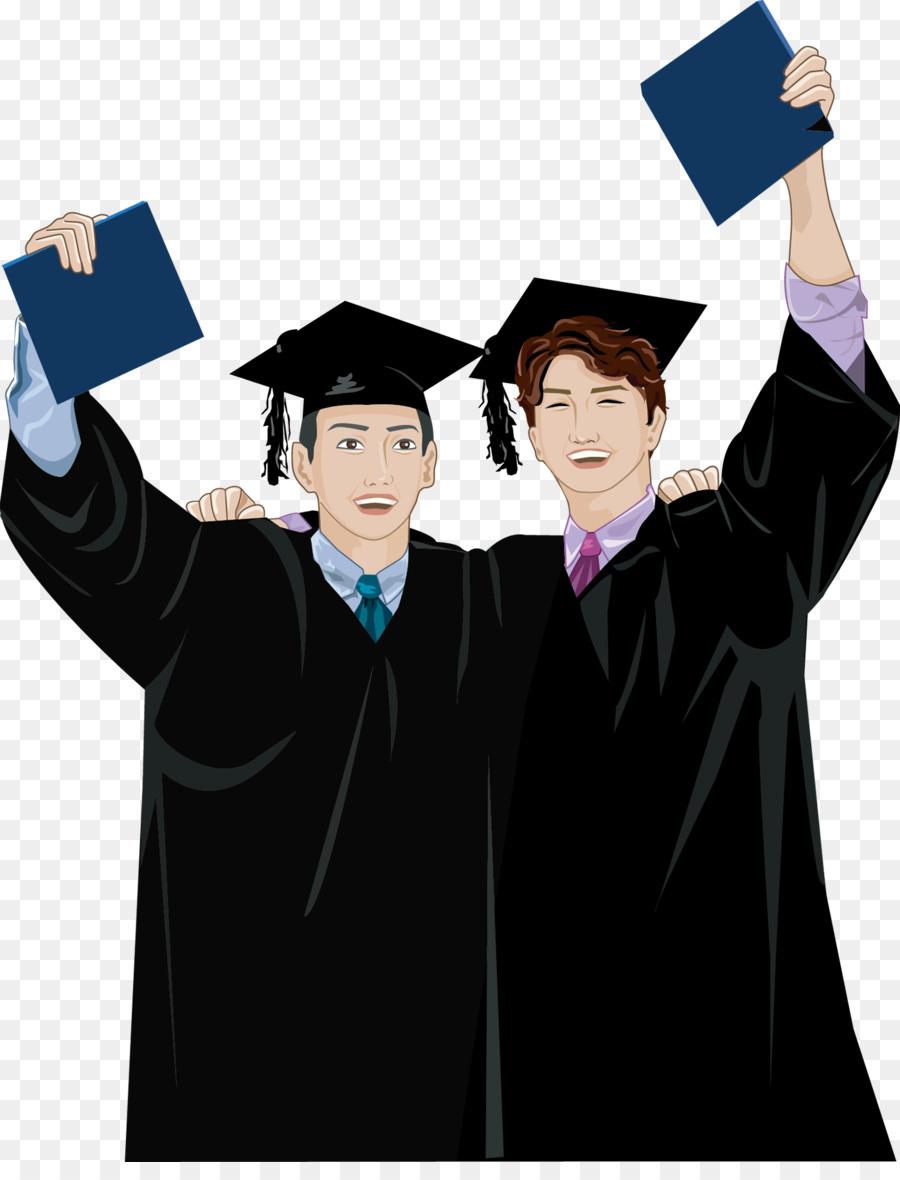 Descarga gratuita de Licenciatura, De Dibujos Animados, Académico Vestido Imágen de Png