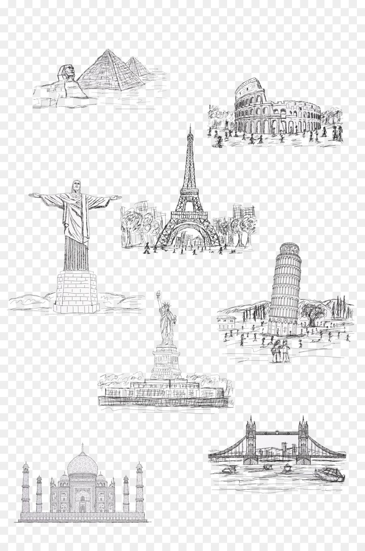 Descarga gratuita de Estatua De La Libertad, La Torre Eiffel, Atracción Turística imágenes PNG