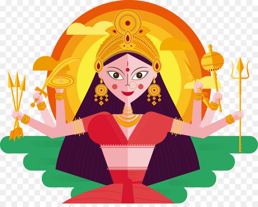 Descarga gratuita de La India, Durga Puja, Navaratri Imágen de Png