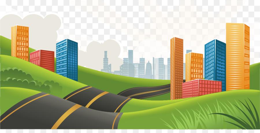 Descarga gratuita de Carretera, Silueta, Paisaje Urbano imágenes PNG