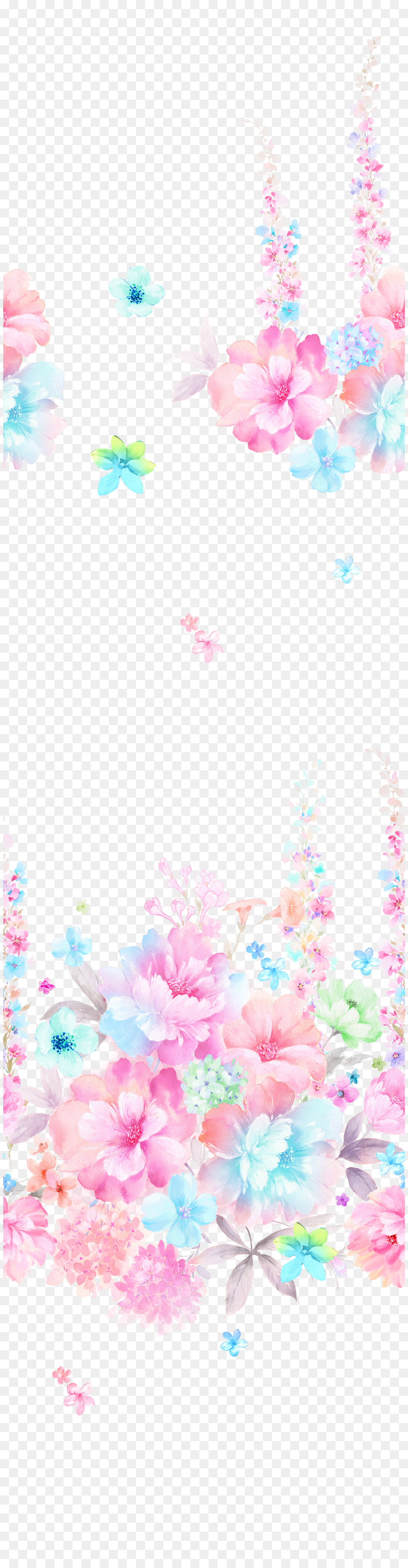 Descarga gratuita de La Pintura De Flores, Pintura A La Acuarela, Diseño Gráfico imágenes PNG