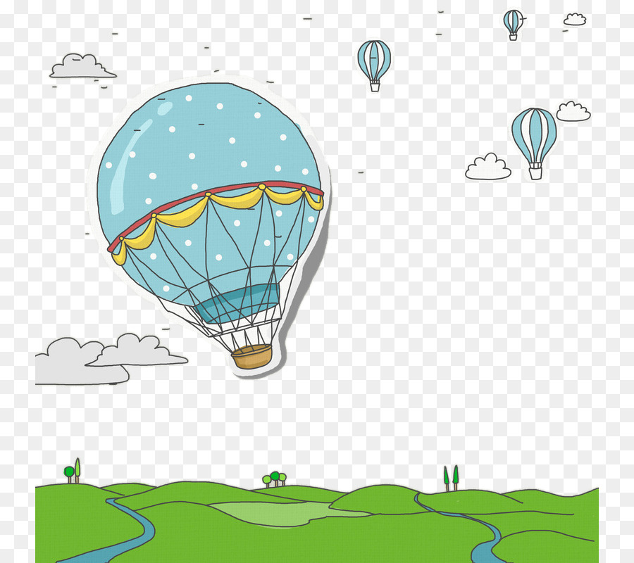 Descarga gratuita de Globo De Aire Caliente, Dibujo, Globo Imágen de Png