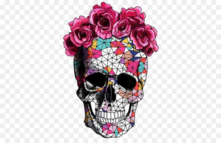 Descarga gratuita de Calavera, Flor, Cráneo Imágen de Png